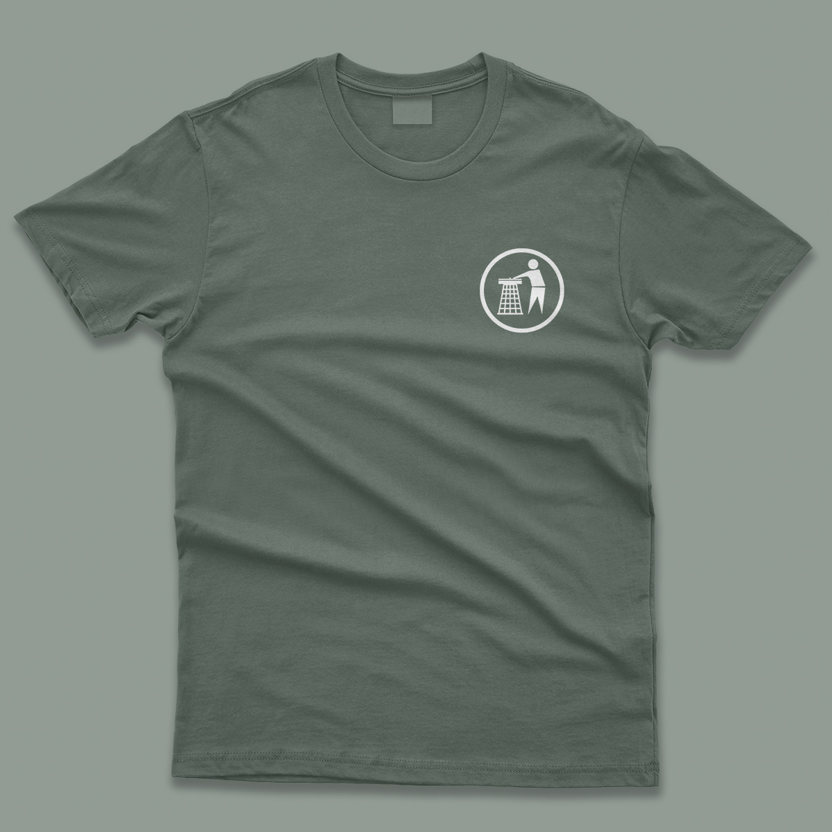 Tidy Classic Mens T-Shirt Khaki