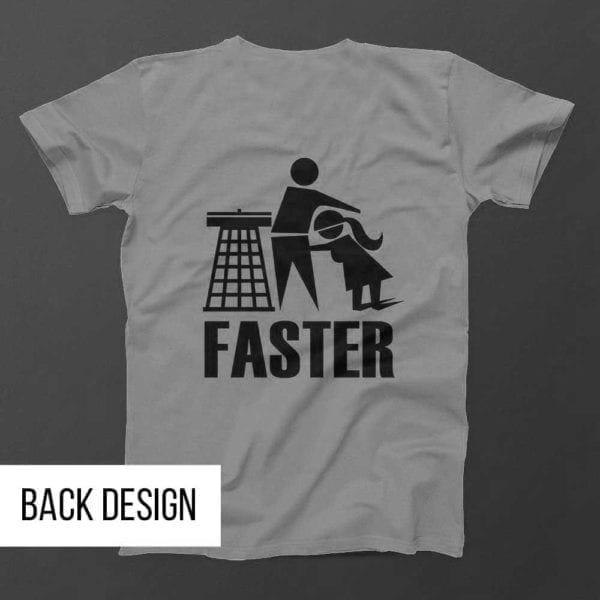 HARDER-FASTER-Mens-Grey-Back