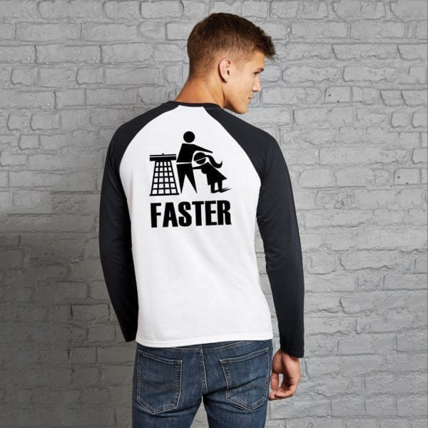 Harder Faster Baseball Top back