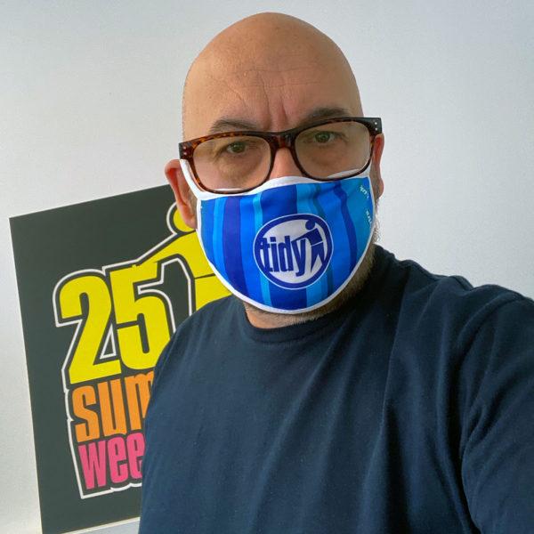 Tidy Boys Blue Face Mask