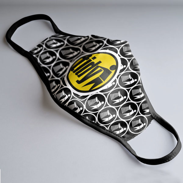 Tidy Face Mask Black & Yellow Logo