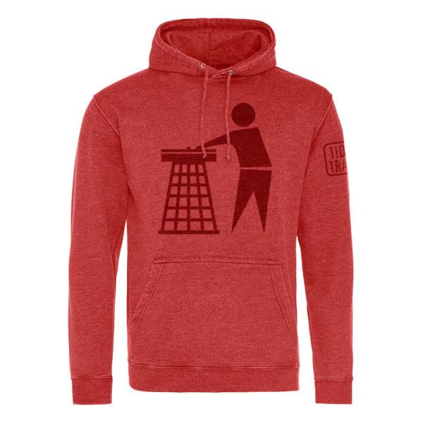 red tidy hoodie