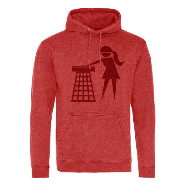 tidy girls red hoodie