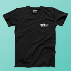 tidy two black t shirt