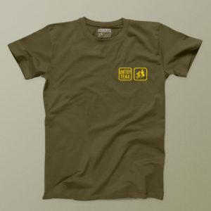 Untidy t shirt khaki