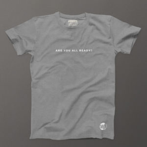 Are you All Ready-Mid-Grey Heather Tee MENS.