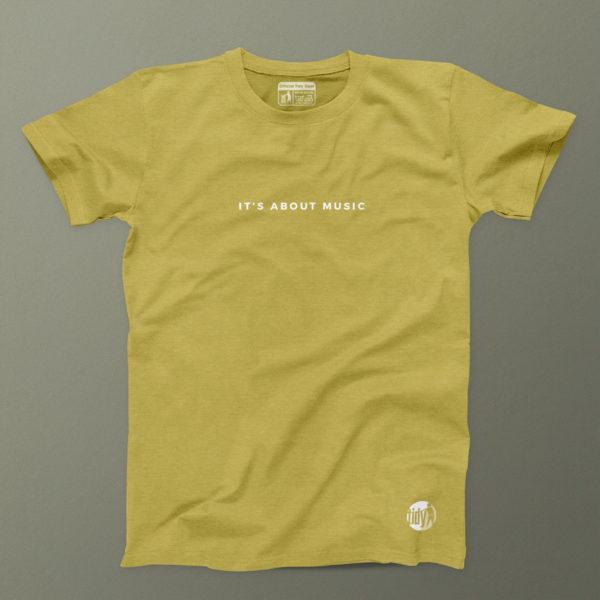 its all about the music lemongrass t-shirt mens