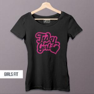 tidy heart logo girls tee
