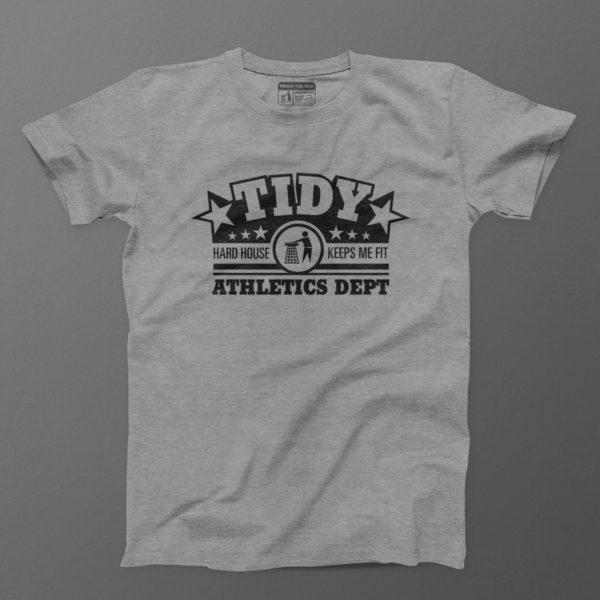 tidy athletics men t shirt grey