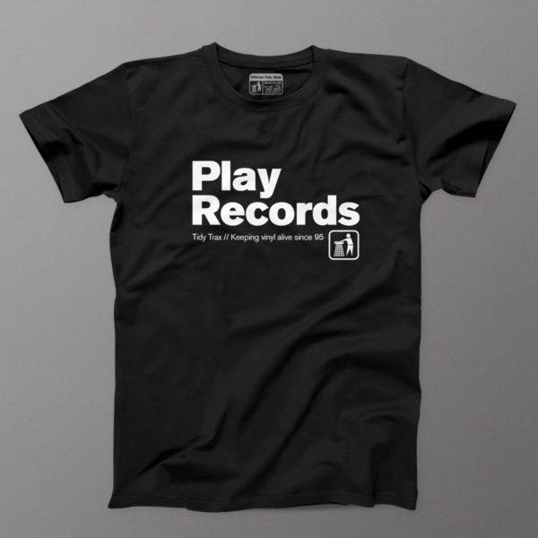 Play Records Black mens tee