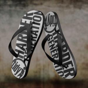 tidy flip flops black
